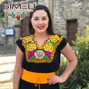 Mexican Hand Made Embroidered Top
